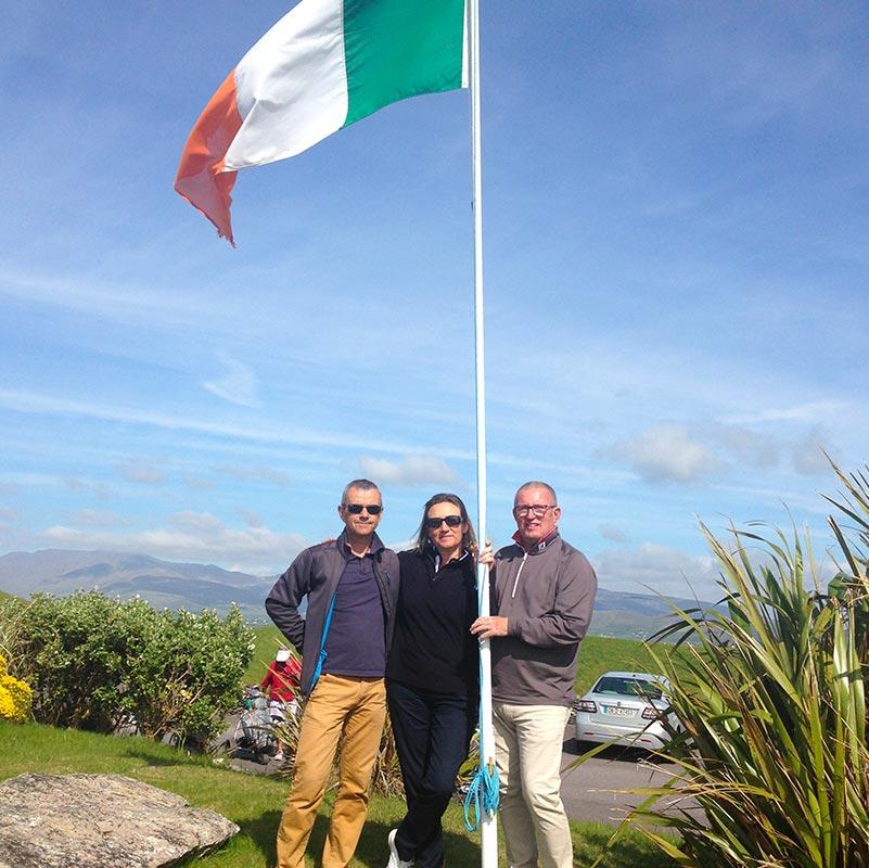 Photo de groupe souvenir, séjour golf en Irlande