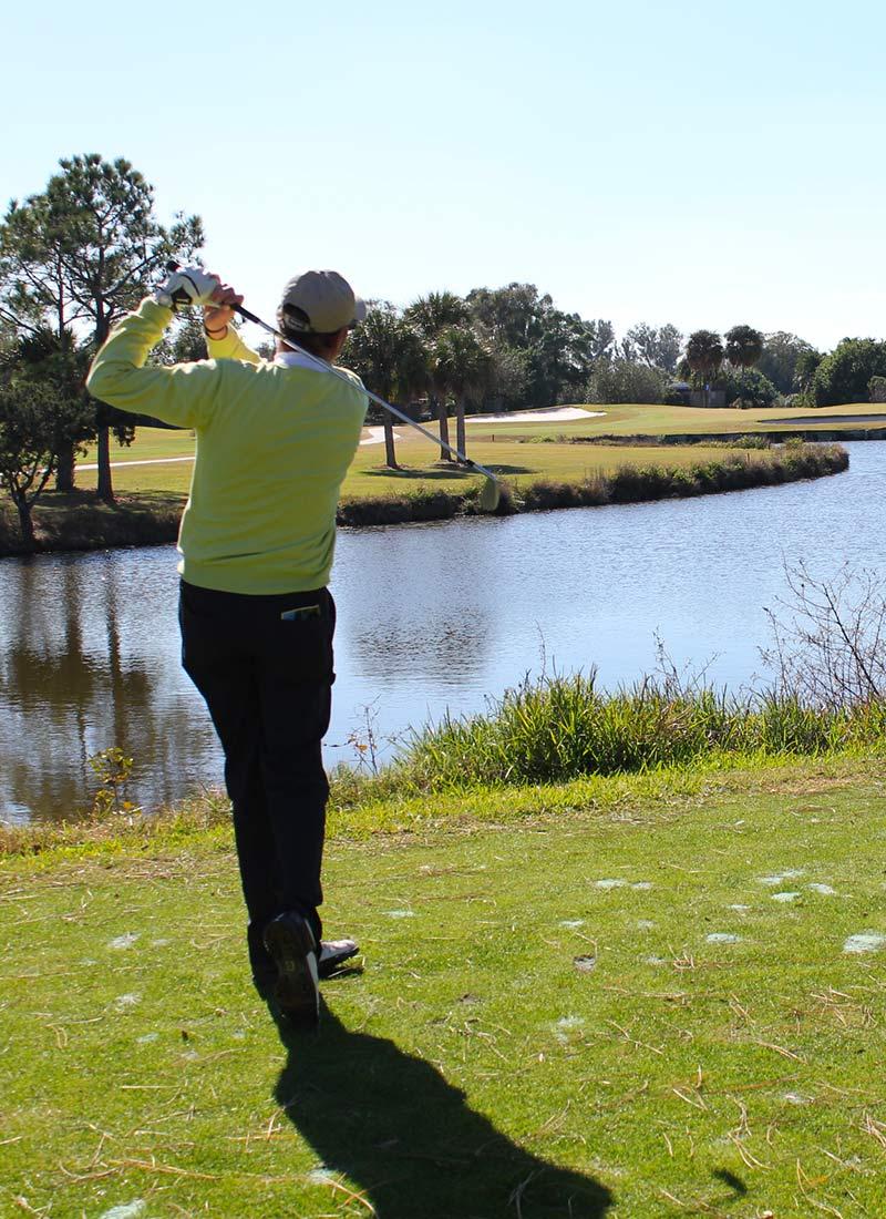 Jérôme Bourel, professionnel du golf depuis 28 ans